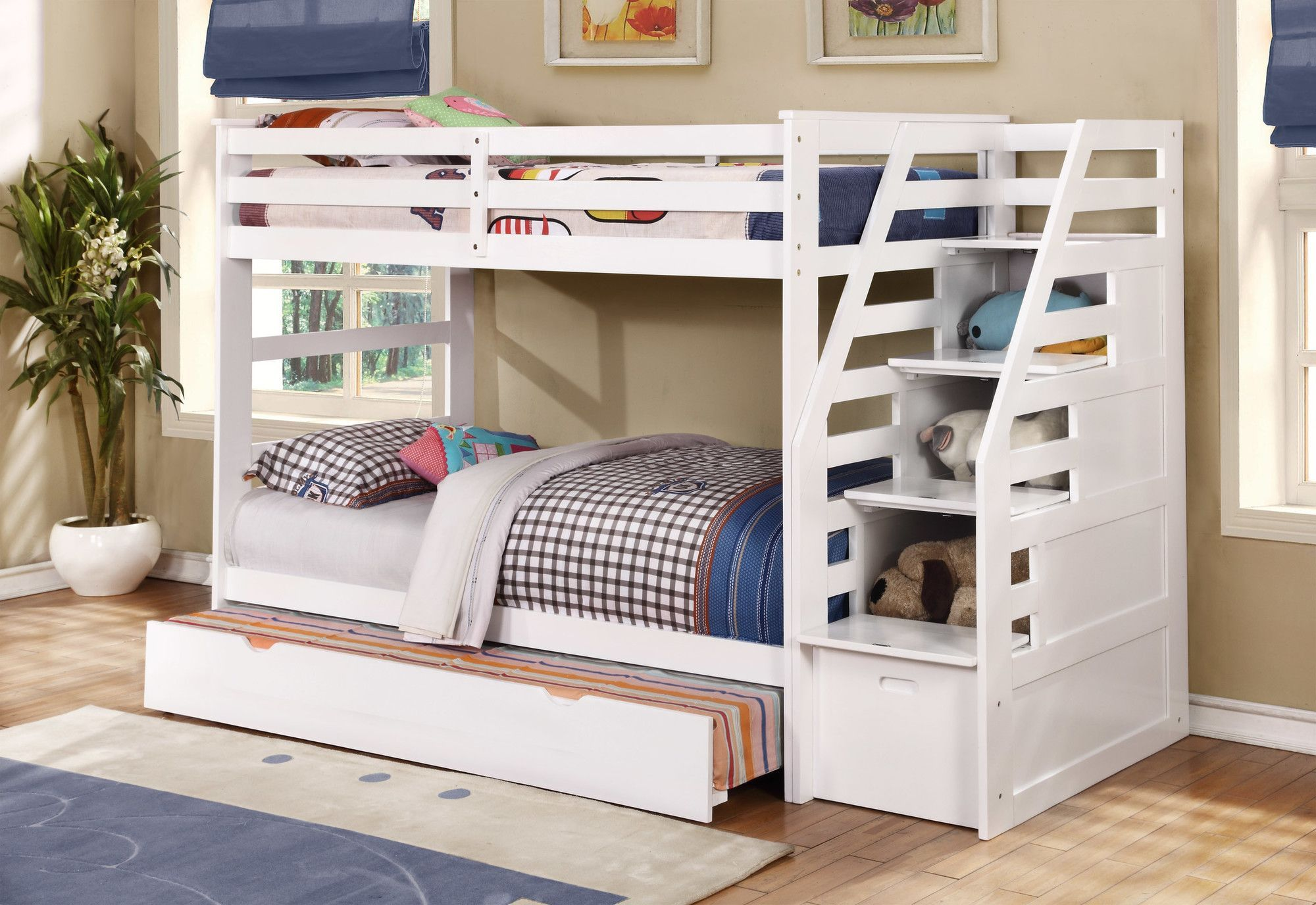 Cosmo Twin Bunk Bed Trundle And Storage Images