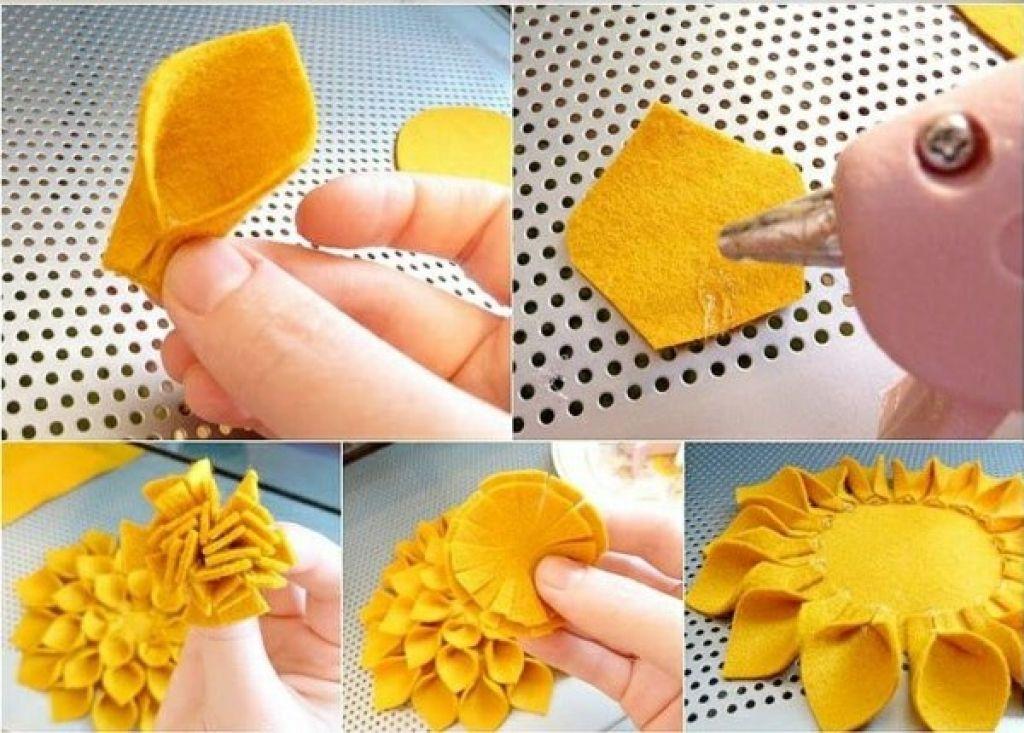 selber machen ideen filzblumen selber machen kreative bastelideen - weie badmbel