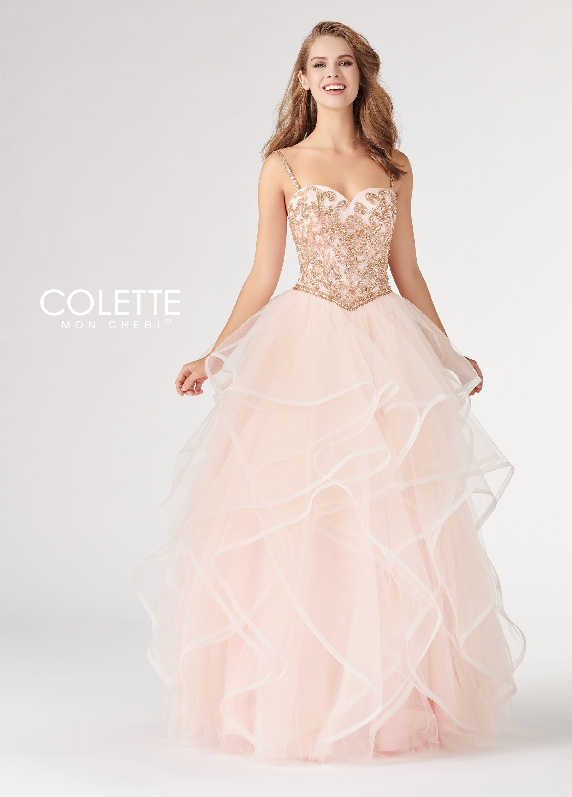 0f2d94d775d Colette for Mon Cheri CL19886 - Sleeveless tulle ballgown with a sweetheart  neckline