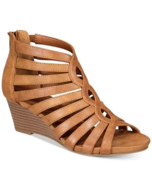 White Mountain Victoria Strappy Wedge Sandals Women Shoes