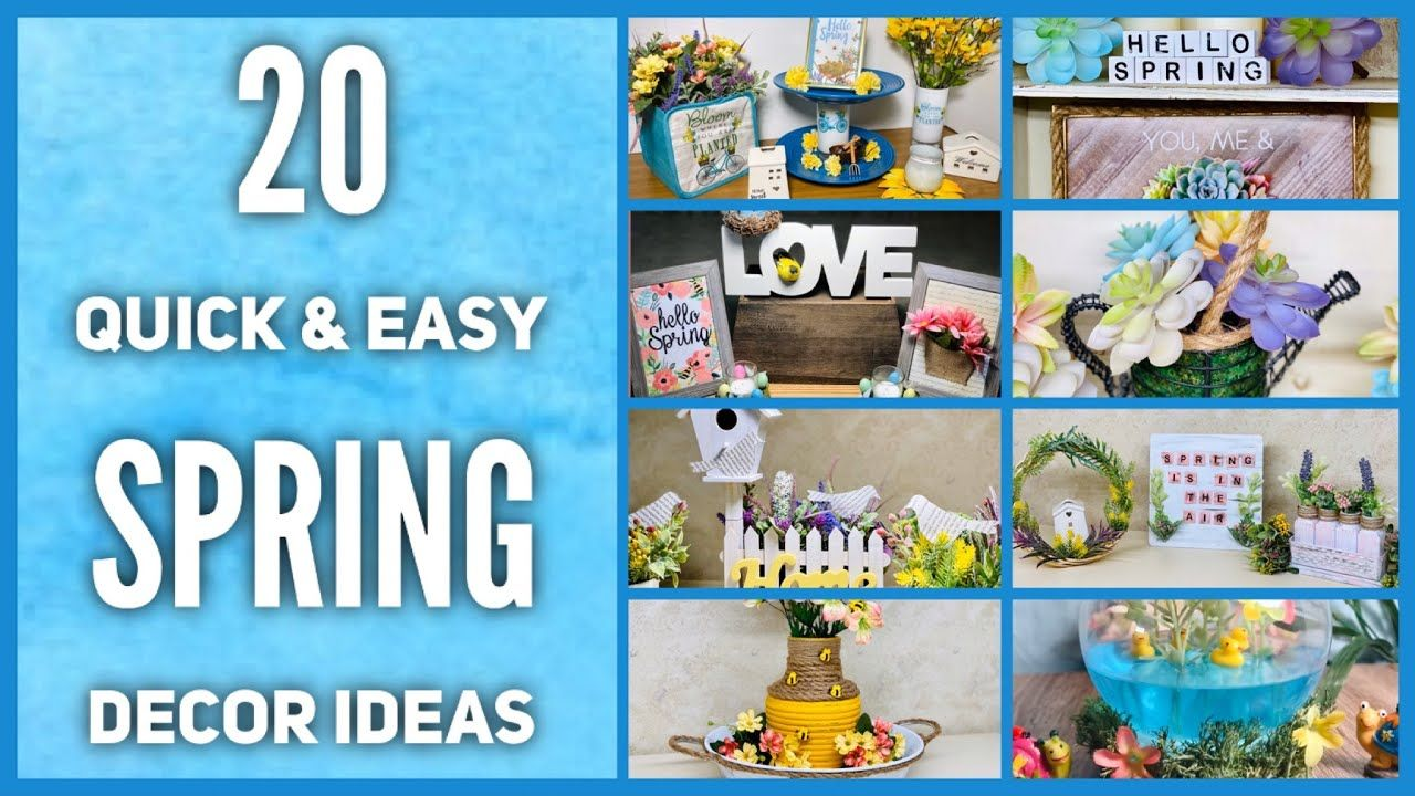 20 Dollar Tree DIY Spring Farmhouse Decor Craft Ideas