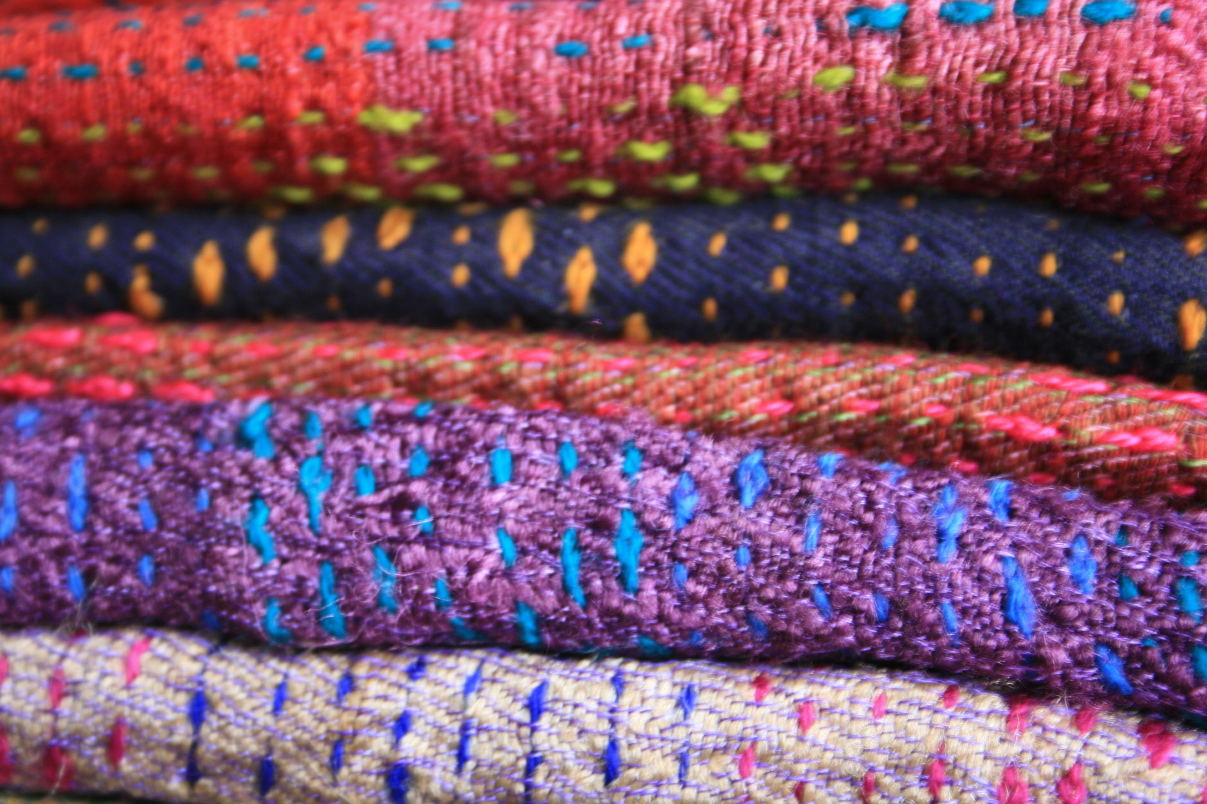 Kantha embroidery work done on handspun tussar silk
