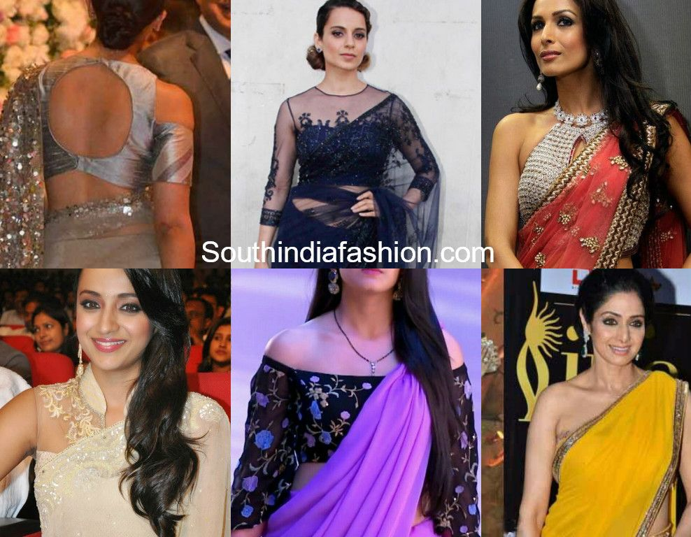 e00db91e6f Indo Western Blouses: Add a Modern Twist to Traditional Sarees ...