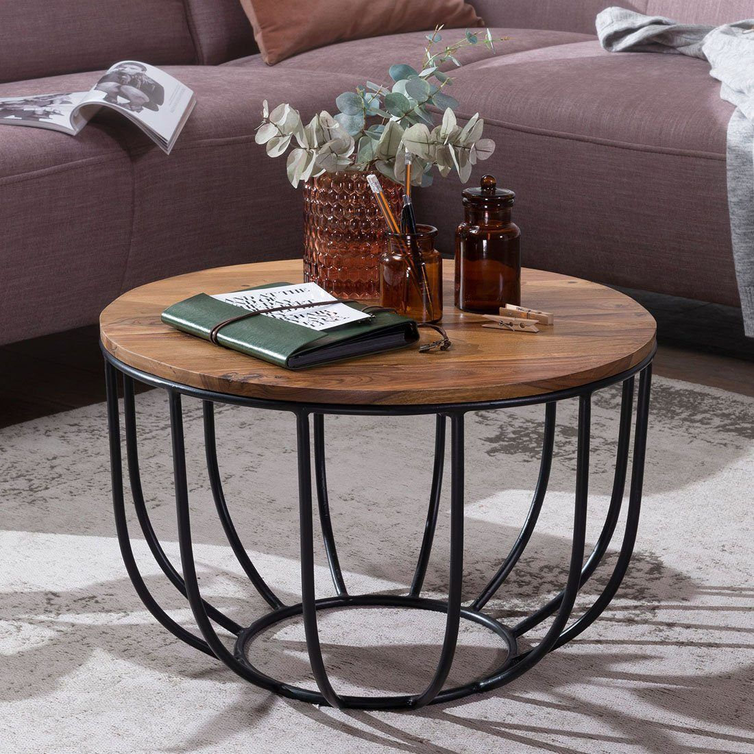Solid Wood Indiana Bowed Round Coffee Table Saraf Furniture In 2020 Coffee Table Wood Coffee Table Round Coffee Table [ 1100 x 1100 Pixel ]