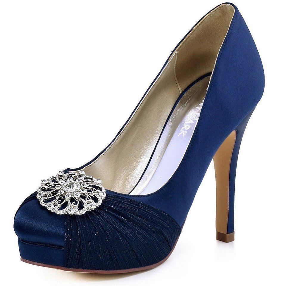 Chiffon Party Pumps High Heels   Live Blue   Pinterest   High heel ... 014bcdfdad