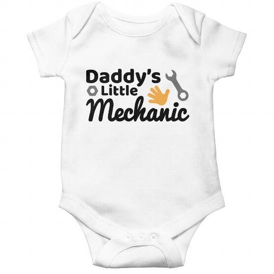 0743a0e4b Daddy s Little Mechanic - Baby Onesie