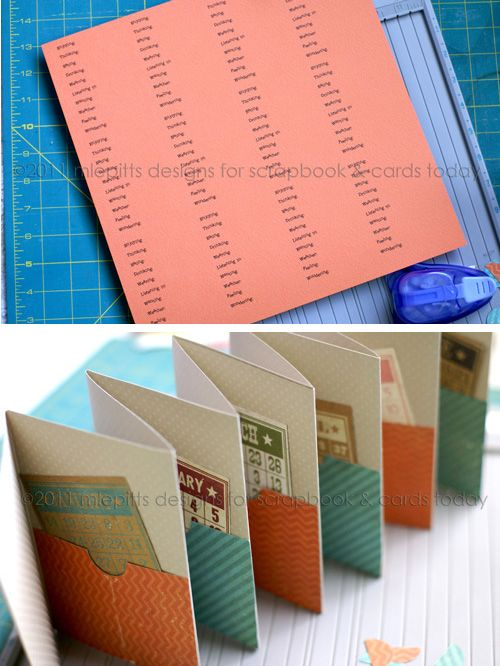 Accordian Fold Mini Album With Emily Pitts Tutorials Minis And Easy