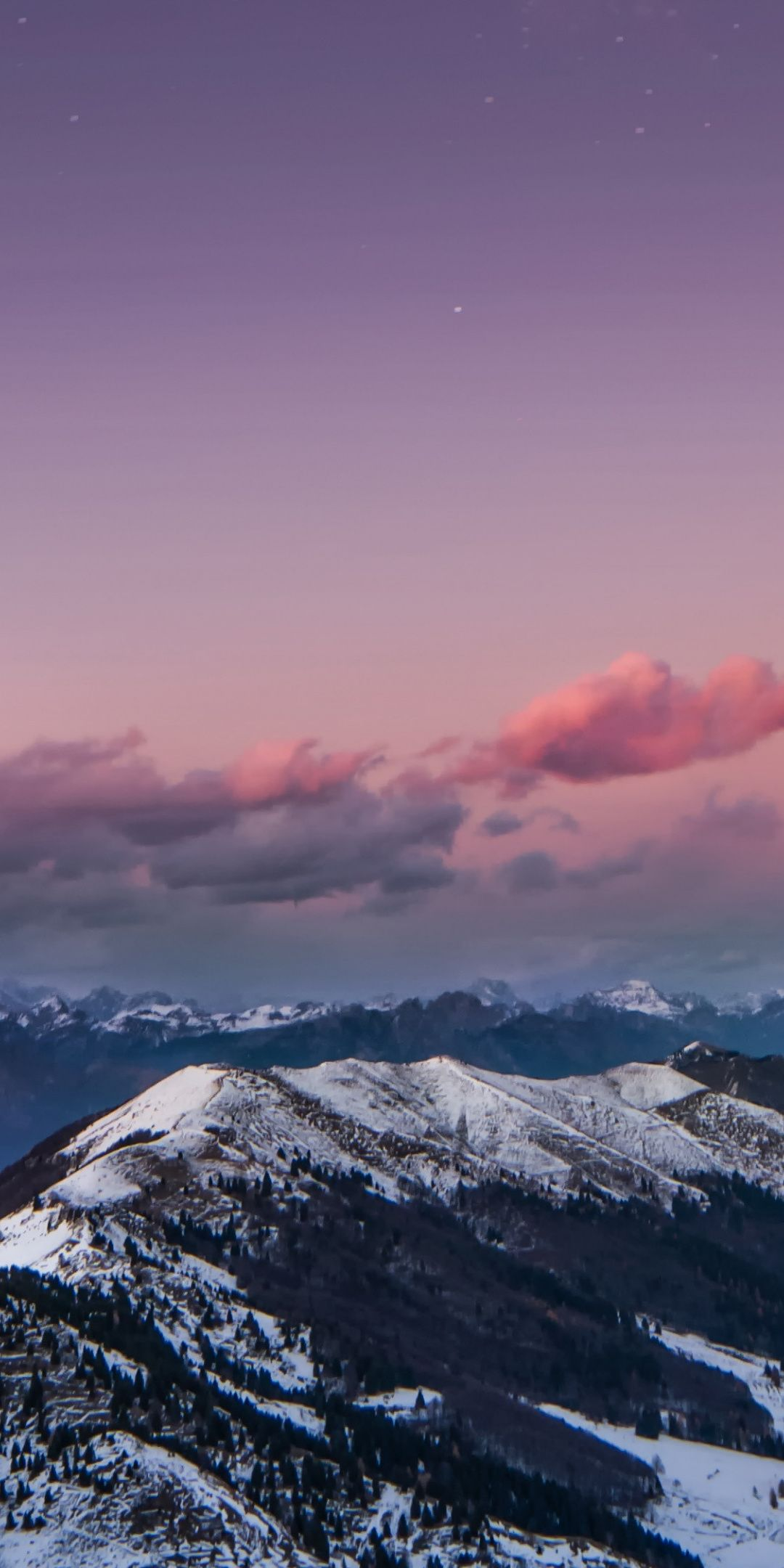 Mountains Snow Glacier Sunset Dolomites Italy 1080x2160