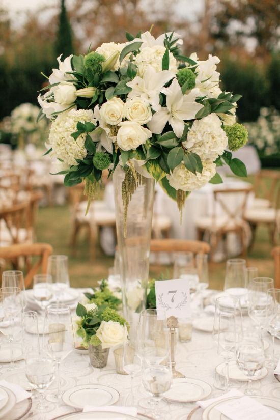Wedding Flower Arrangements.White And Black Elegant Wedding Weddings Flower Arrangements