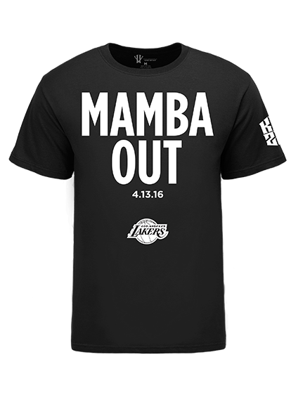 Mamba Out T Shirt At Kobebryant Com Shirts Kobe Bryant Shirt Basketball Clothes