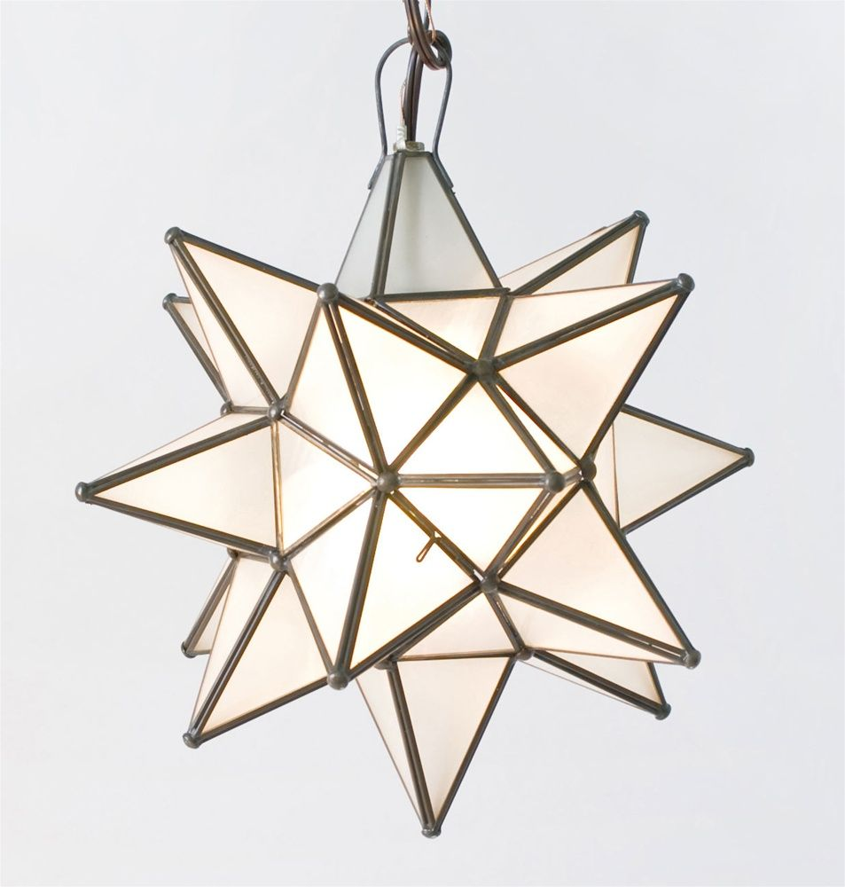 Moravian Star Pendant Chandelier Small Frosted Glass by Worlds Away AGS812Moravian Star Pendant Chandelier Small Frosted Glass by Worlds  . Moravian Star Pendant Light Fixture. Home Design Ideas