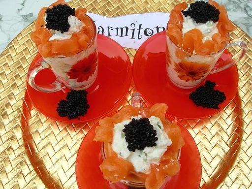 Verrines Au Saumon Fume A La Creme De Concombre Recette Saumon