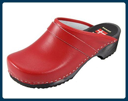 f508fa7e Danish Design Clogs rot mit schwarzer Sohle - Clogs für frauen ...
