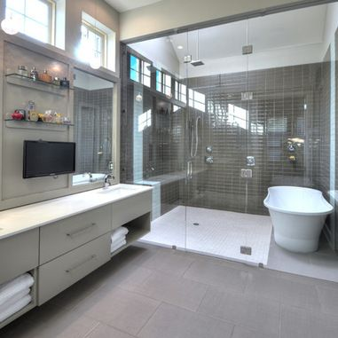 Bath Tub In Shower Design Ideas, Pictures, Remodel, and Decor