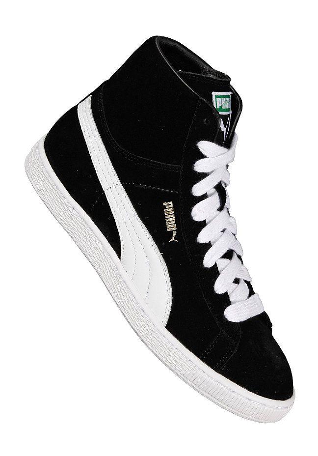 65c571e496a69b Puma Suede Mid Classics - Sneaker für Herren - Schwarz
