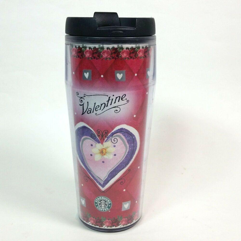 Starbucks Barista Valentine Travel Mug 2002 Hearts Coffee