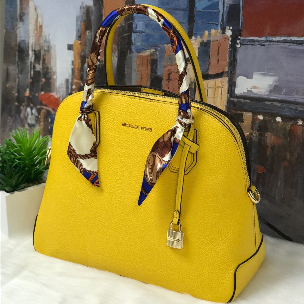 982468990c0a Michael Kors Mercer Large Dome Satchel With Twilly