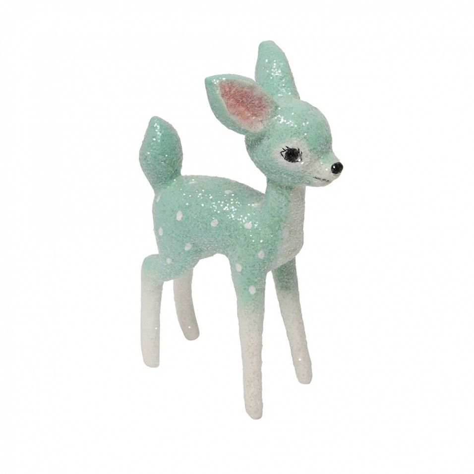 Red Turquoise Not Just For Holiday Decor: Turquoise Retro Deer Christmas Decoration