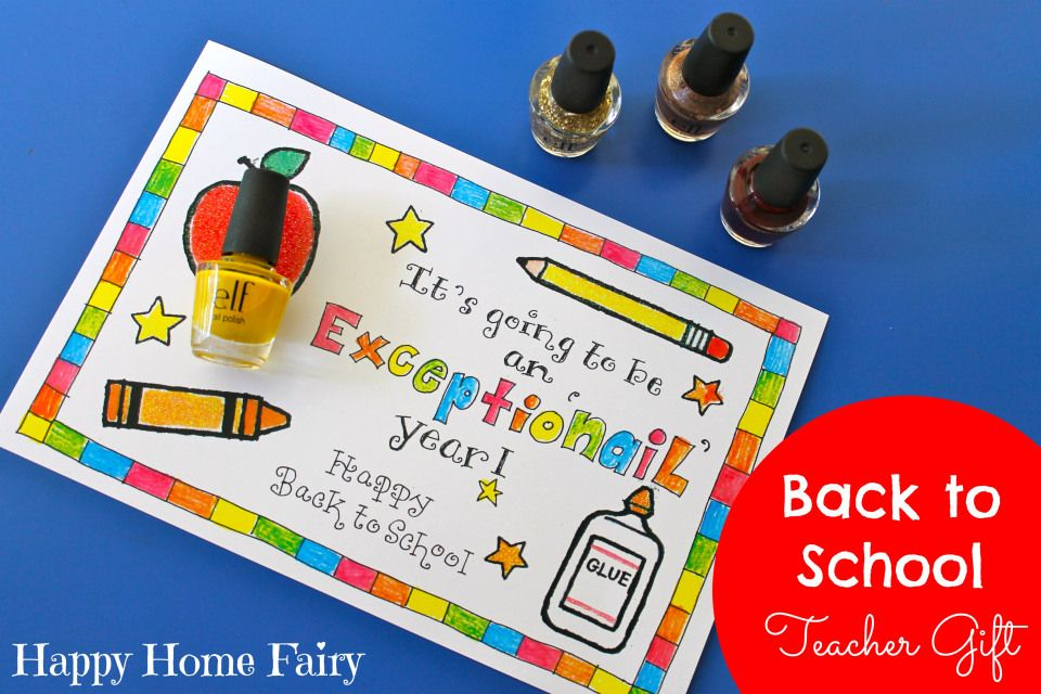 easy back to school teacher gift - love this! so easy!