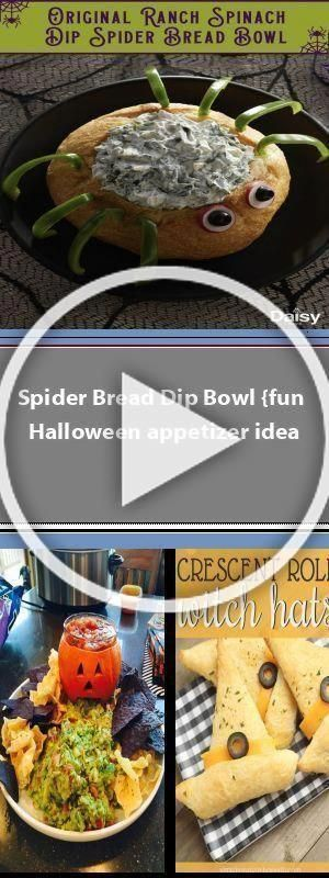 Spider Bread Dip Bowl {fun Halloween appetizer idea In today's post: This spider bread dip bowl is easier to make than you'd think! Pair it with veggies for a great Halloween appetizer or party food idea. When it comes to Halloween food, I am really not into the gross out ideas. I know, that probably means I'm getting old (I am) and grumpy … #halloweenappetizerideas Spider Bread Dip Bowl {fun Halloween appetizer idea In today's post: This spider bread dip  #halloweenappetizers