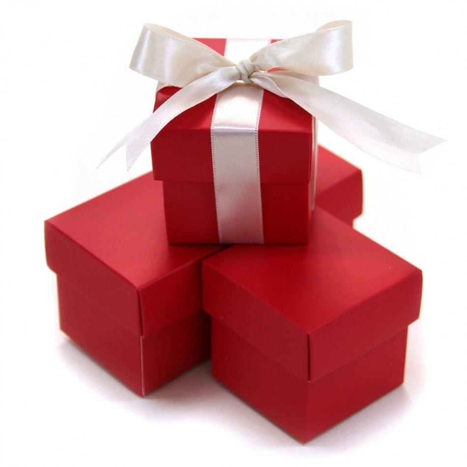 2 pc favor boxes 2x2x2 red 403498 2 piece favor boxes