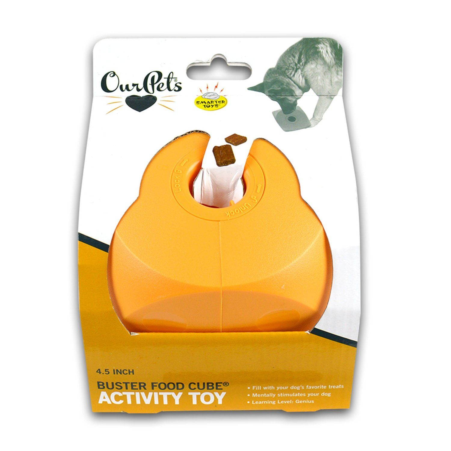 Ourpets Buster Food Cube Interactive Dog Toy Colors Vary