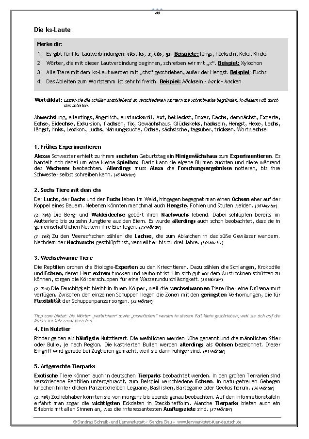 Kurze Diktate mit Nebeneffekt - Teil 2 – Deutsch | Rechtschreibung ...
