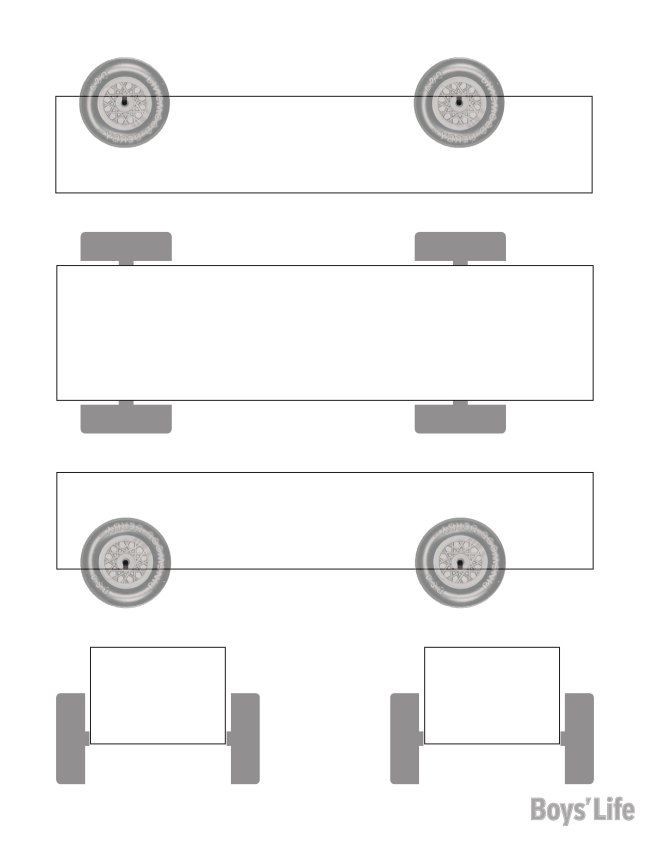 Use this handy template to sketch out your Pinewood Derby car - pinewood derby template