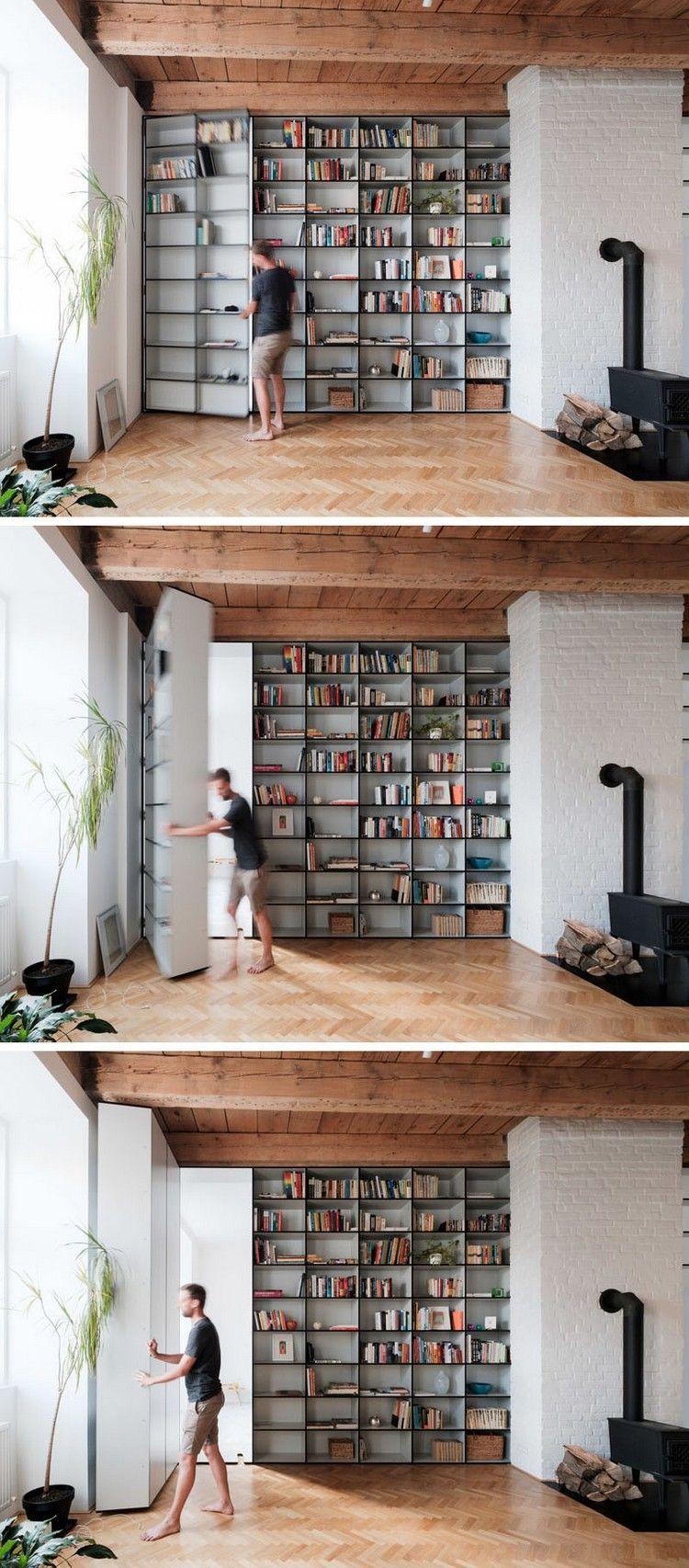 porte biblioth que cach e id es am nagement id es portes pinterest maison interieur et portes. Black Bedroom Furniture Sets. Home Design Ideas