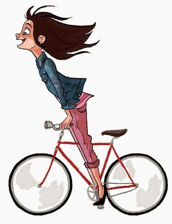 Girl Riding A Bike Bike Drawing Bicycle Art Bike Illustration