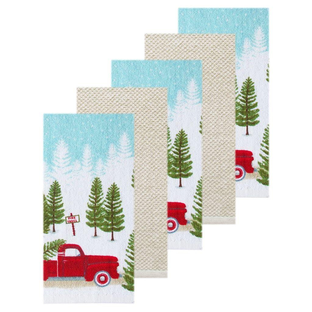 St Nicholas Square Truck Kitchen Towel 5 Pack Christmas