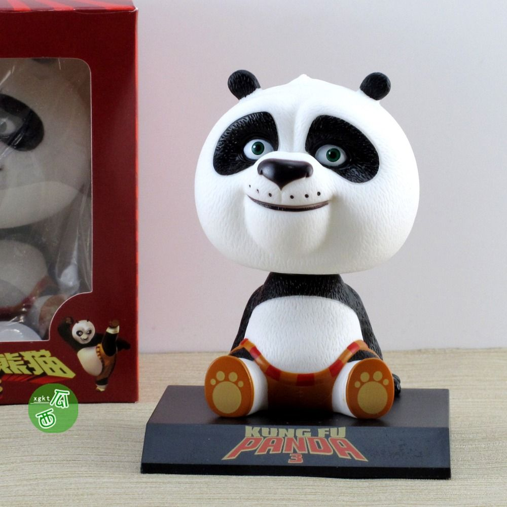 Baby girl car toys  Movie Kung Fu Panda  Po Bobble Head Toys Car Toys PVC Figures