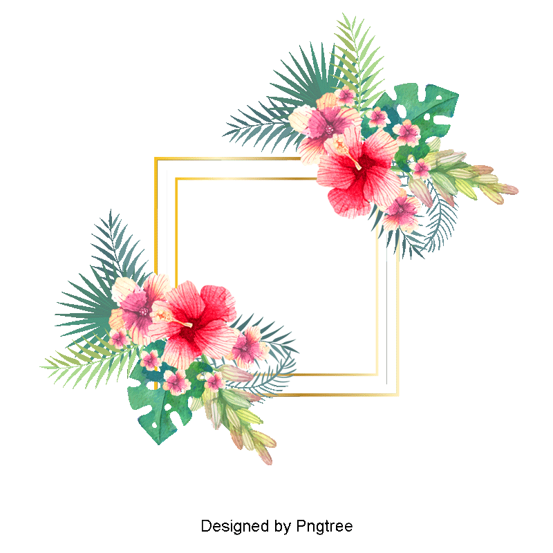 Hand Painted Watercolor Floral Background Promotion