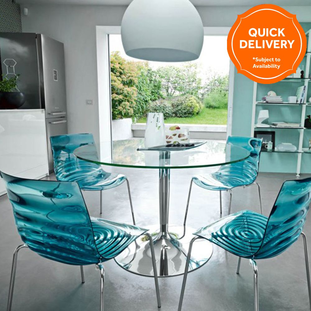 Calligaris Planet Dining Table & 4 L\'Eau Chairs Buy Online at ...