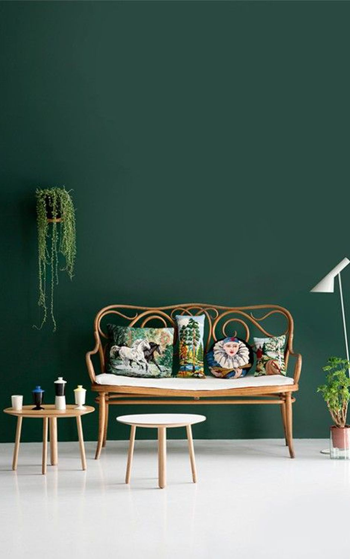 Kleur Groen Woonkamer Groen Geschilderde Muren Groene Decoratie Groen Interieur