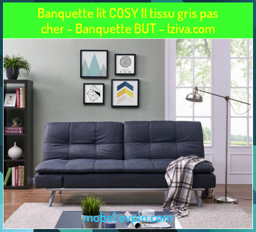 Banquette Lit Cosy Ii Tissu Gris Pas Cher Banquette But Iziva Com In 2020 With Images Banquette Cosy Home Decor