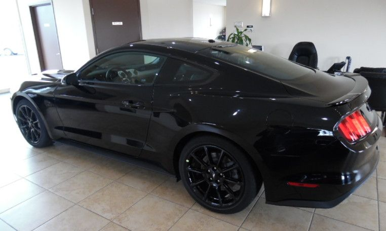 2016 All Black Ford Mustang Gt Premium Leather 6 Sd Manual 435 Horse 5 0l V8 Sport Package Back Up Camera Blind Spot Ist