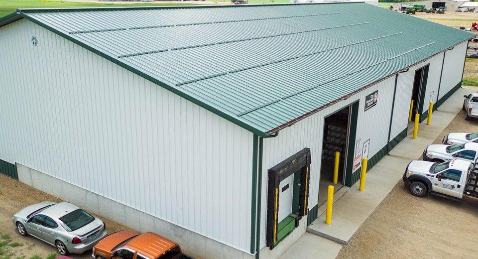 Morton Buildings Warehouse In Grafton North Dakota Farm Buildings Steel Buildings Morton Building