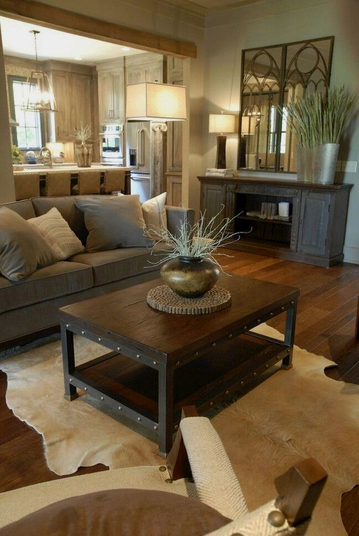75 Warm And Cozy Farmhouse Style Living Room Decor Ideas