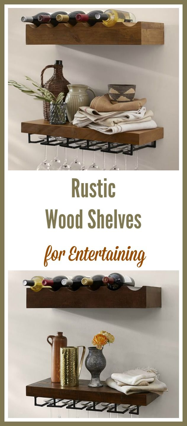 Decor ideas for entertaining at home with friends -- these rustic ...