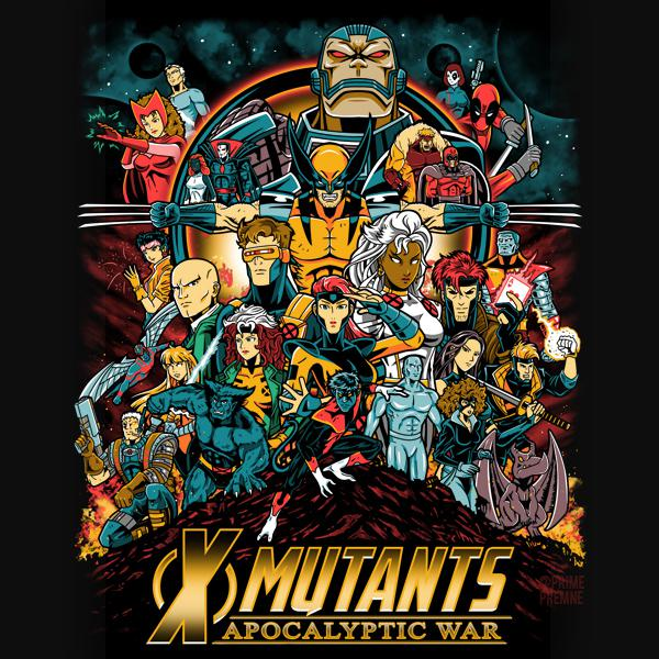 Artwork Drew Popular 90s Mutants In The Style Of The Avengers Infinity War Poster Xmen In 2020 Apocalyptic Day Of The Shirt Mutant