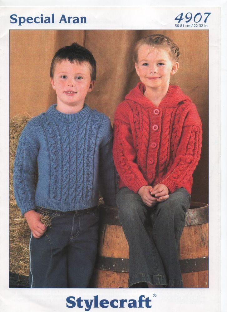 Stylecraft Modern Unisex Aran Sweater Hooded Jacket Knitting Pattern