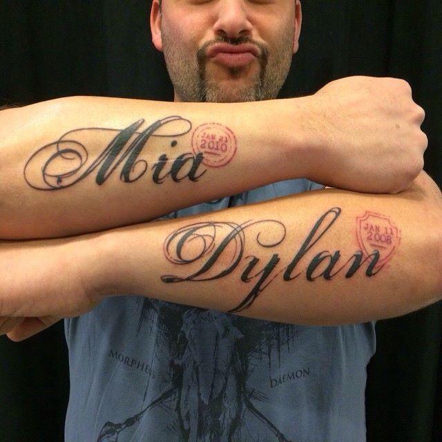 Kids Names On Arms Lupariselli Dreamworxink Tattoos Tattoos