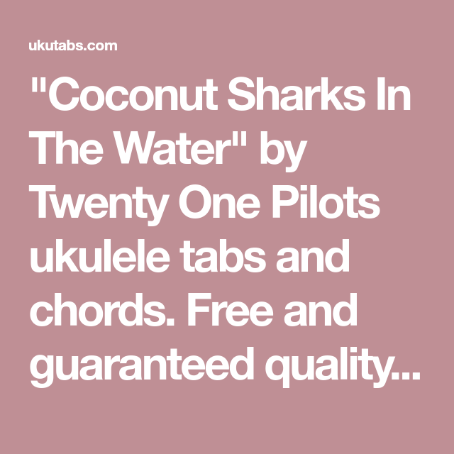 Coconut Sharks In The Water\