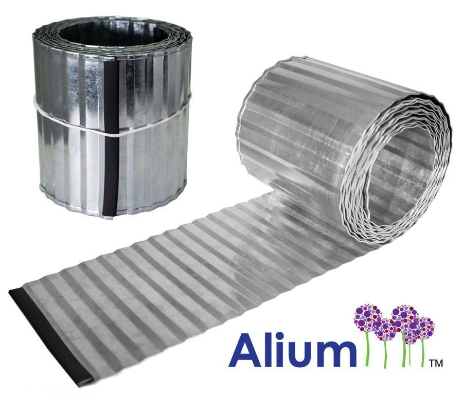 5M Galvanised Lawn Edging Rolls Corrugated 16 5Cm In 640 x 480