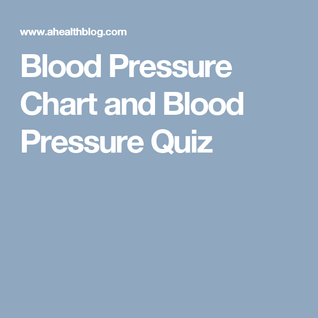 Blood Pressure Chart And Blood Pressure Quiz  Low Blood Pressure