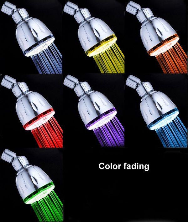 47 95 Futuristic Bathroom Magicshowerhead Sh1026 7 Led Colors Fading Shower Head Neon Modern Bathroom Fu With Images Led Shower Head Shower Heads Color Changing Led