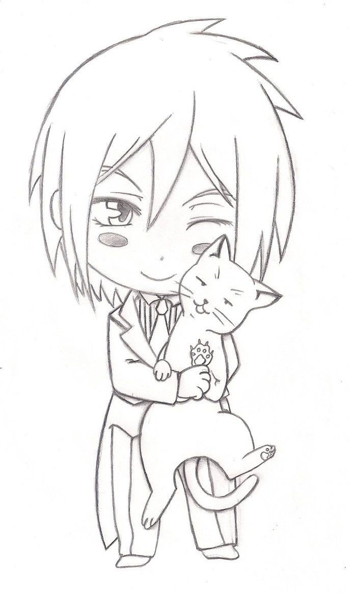 black sebastian black butler chibi coloring pages - Black Butler Chibi Coloring Pages