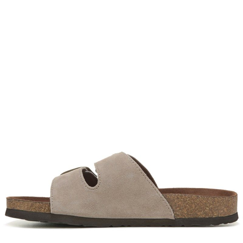 Women S Helga Leather Footbed Sandal Products White
