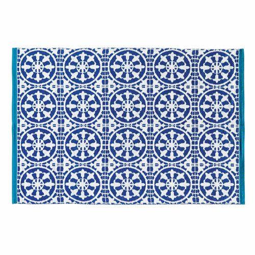 Tapis D Exterieur Bleu Santorin 140x200 Maison Du Monde Jardin Et